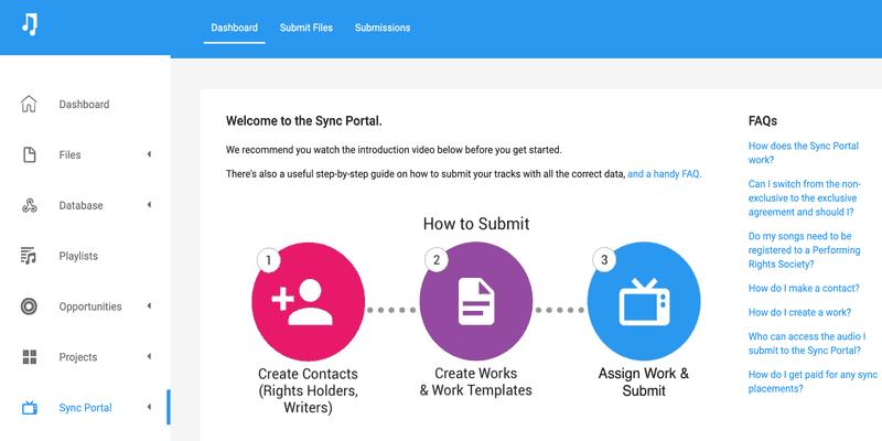 Music Gateway Sync Portal Dashboard