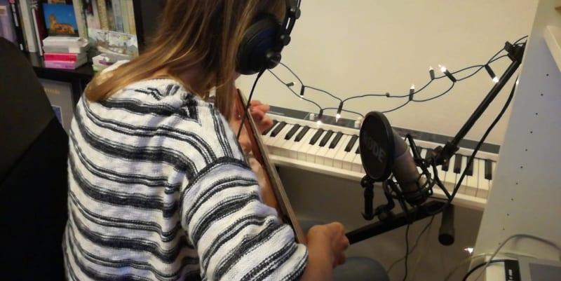 Artist Adeline in Studio