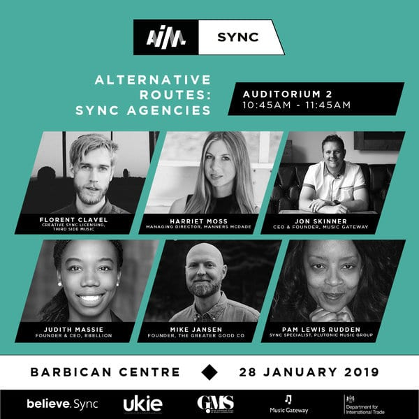 AIM SYNC 2019 Music Gateway Sync agencies