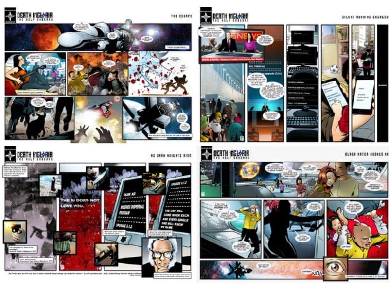 Death Ingloria comic book Music Gateway AIM Sync