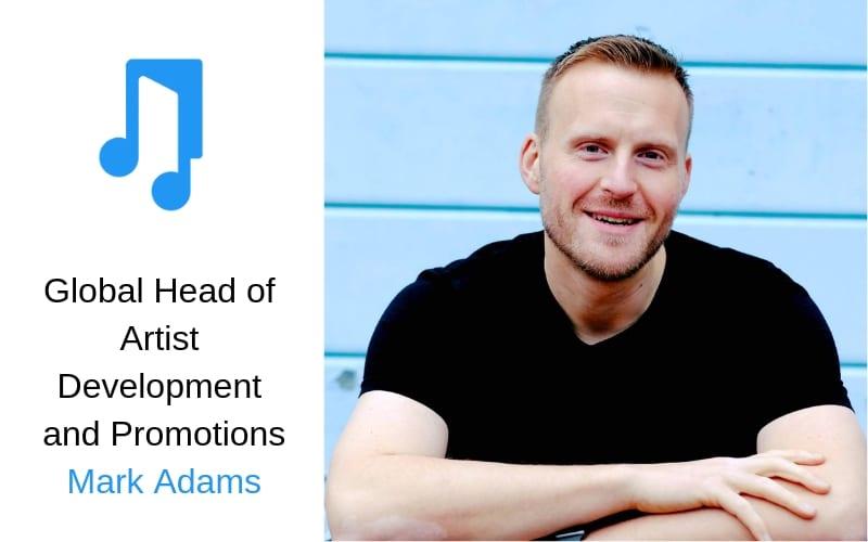 Music Promotions artist development Mark Adams