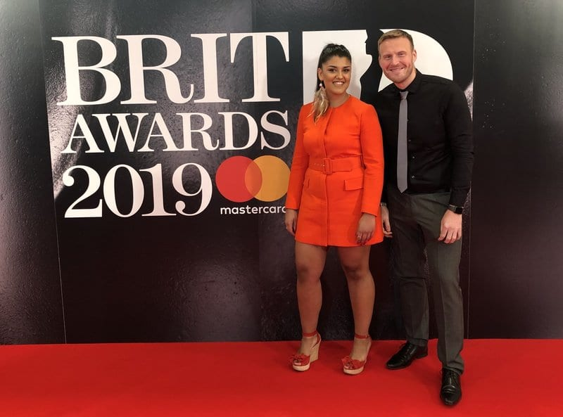 Music Gateway at the BRIT awards 2019 Roberta Marielle de Silva and Mark Adams