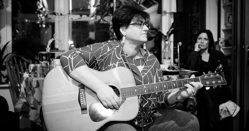 Irina Ford on guitar