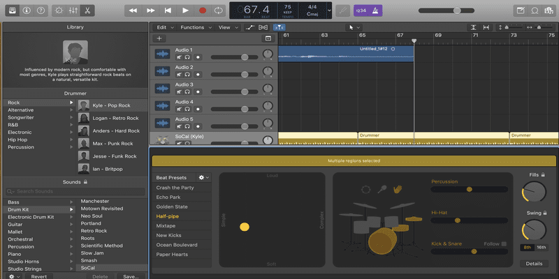 Logic Pro X Drummer Logic Pro X tutorial