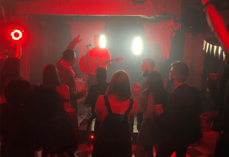Calum Jones 'Iona' Music Video Shoot: On stage