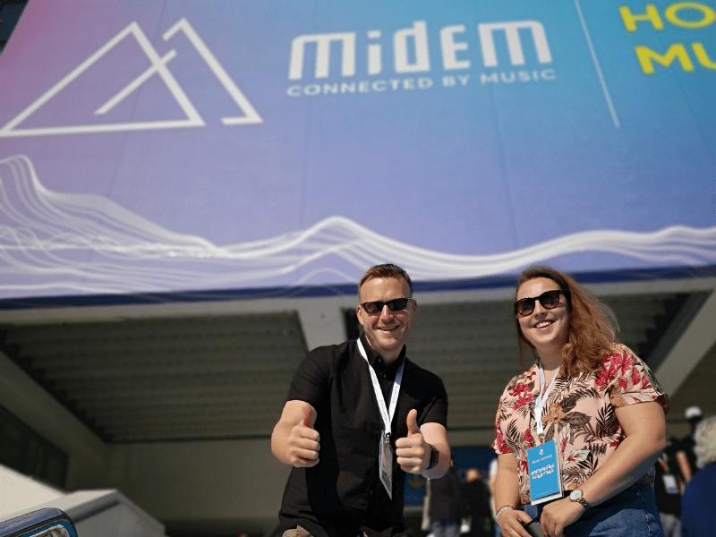 Music Gateway at Midem conference, midem sign