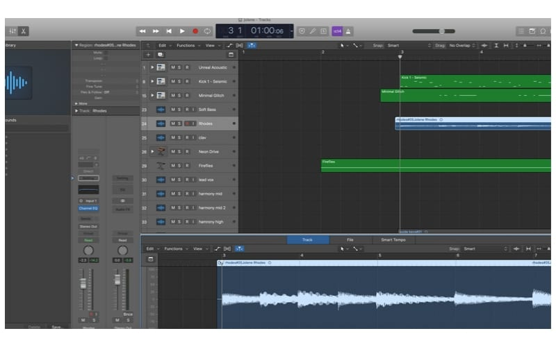 Ableton vs Logic Pro X Audio Editor for waveform audio editing and midi