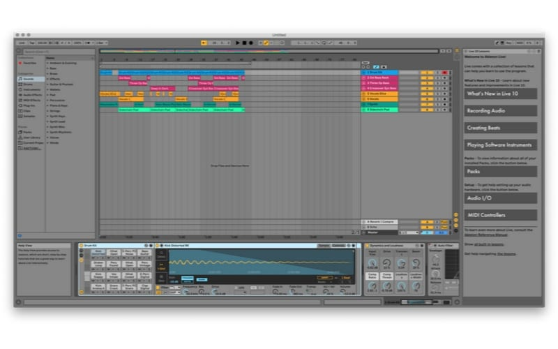 Ableton Arrangement view best DAW screenshot