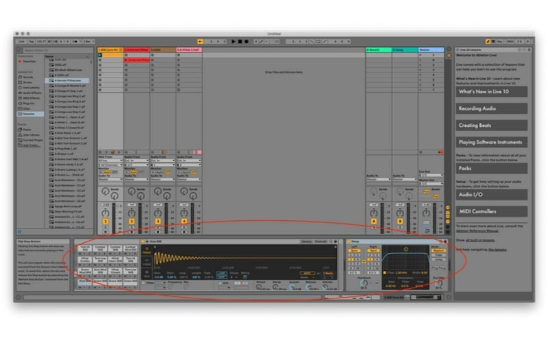 Ableton Live Effects chain screenshot