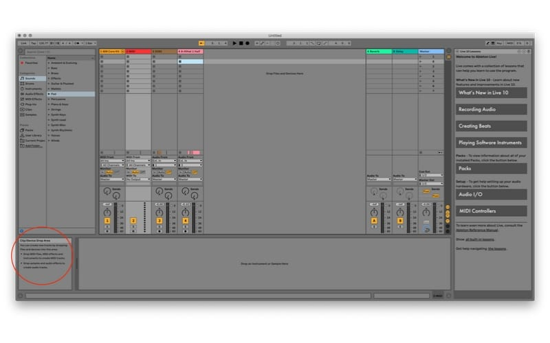 Ableton Vs Logic Ableton Help screen shot from a mac book pro computer