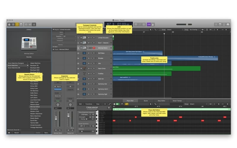 Logic pro screenshot display similar to ableton display