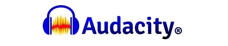 Audacity music editing software package logo