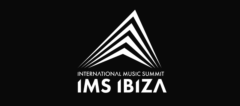 IMS Ibiza logo international music summit in black and white each year in May