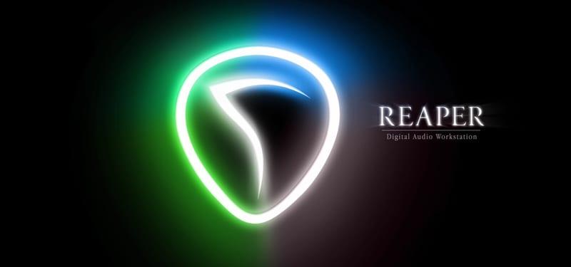 REAPER REATUNE Logo digital audio workstation on black background