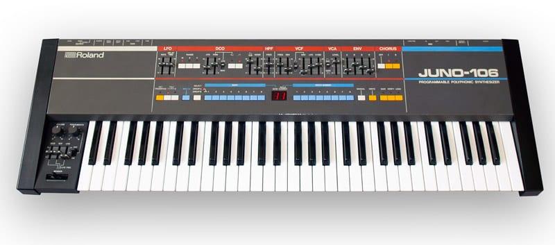 Roland Juno 106 electronic keyboard synthesizer
