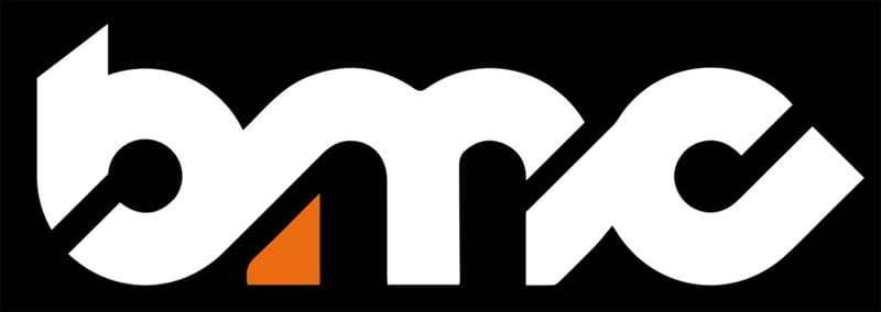 brighton music conference BMC logo in black and white and spot of orange held in Brighton, United Kingdom each year