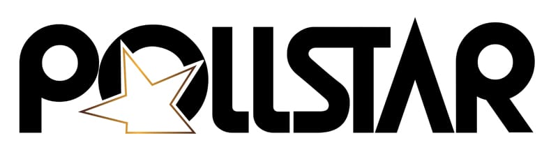 pollstar live logo in black and white in February each year based in LA, USA