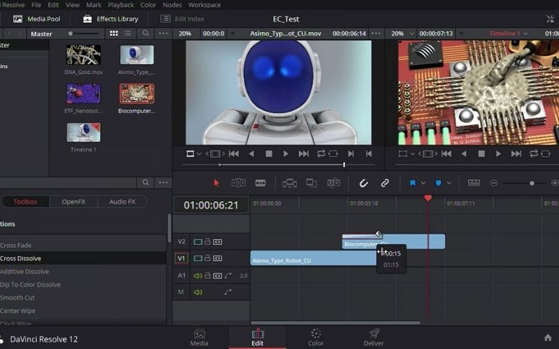 DaVinci Resolve free professional video editing software