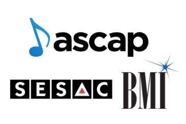 ASCAP BMI SESAC Music Logos