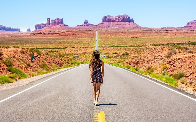 Woman walking on road is a game changer