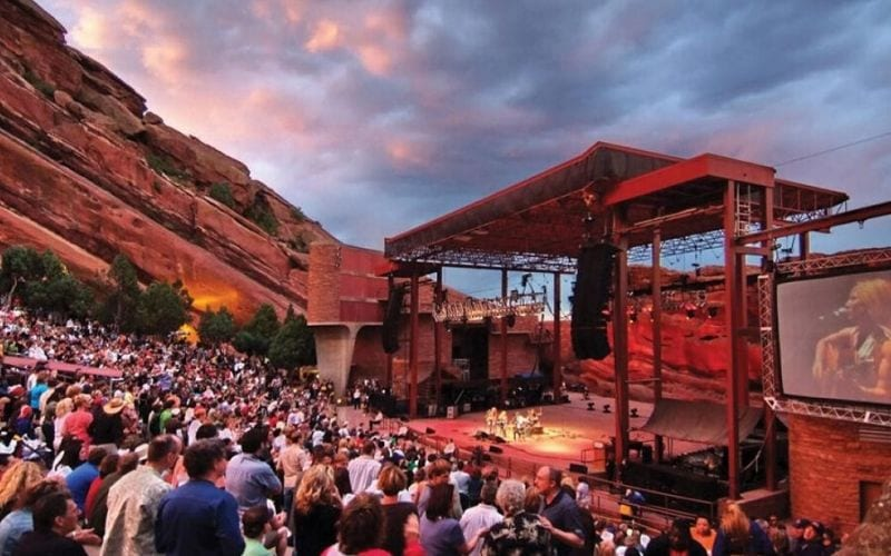 Red Rocks Colorado, music venues Denver