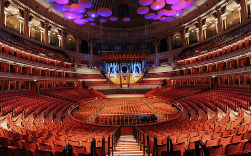 Royal Albert Hall music venue in London, UK