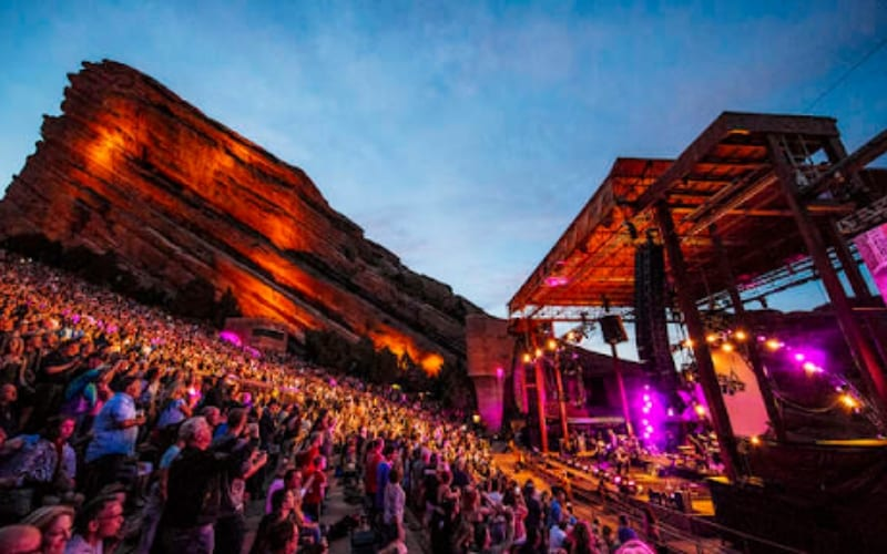 Red Rocks Ampitheatre music venue in Colorado, USA