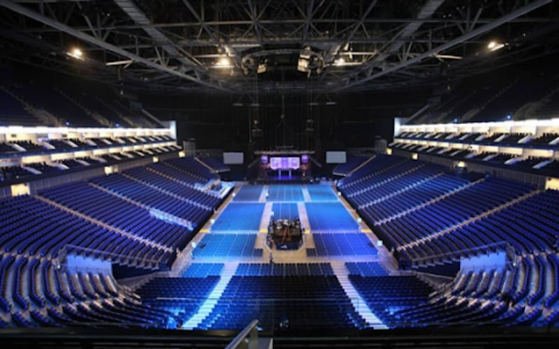 The O2 Arena music venue in London, UK