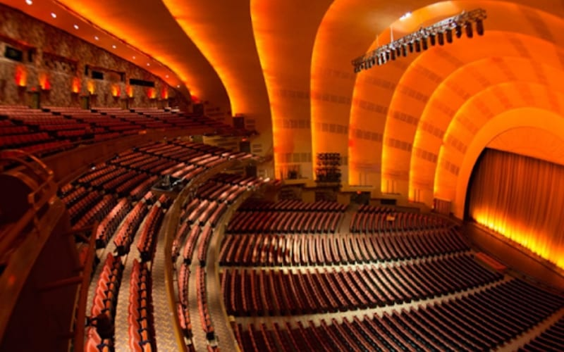 Radio City Music Hall music venue in New York, USA
