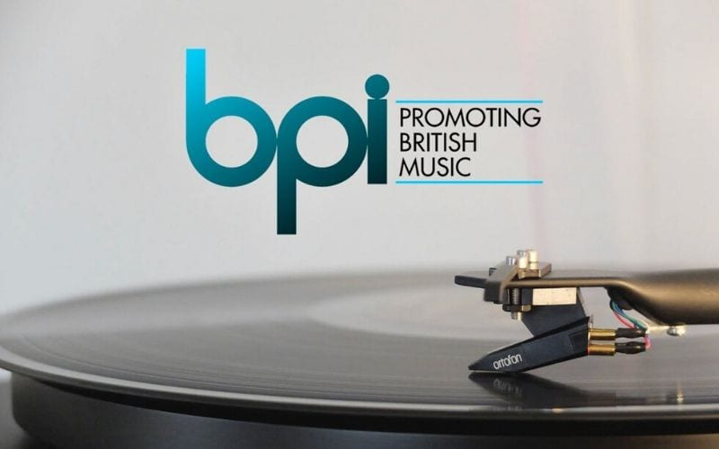 BPI British phonographic industry logo on record