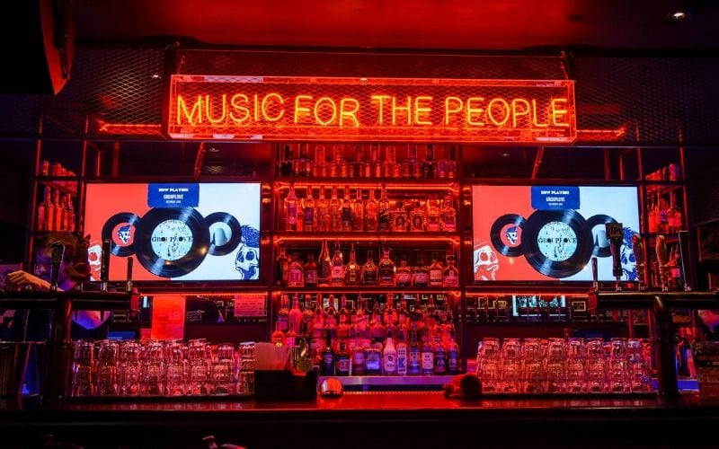 neon sign music for the people start a record label business