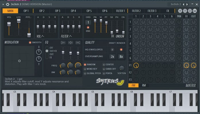 Sytrus Synth Screen