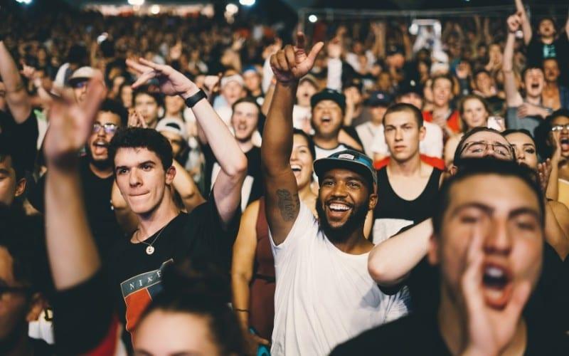 Fans at a concert Music Gateway
