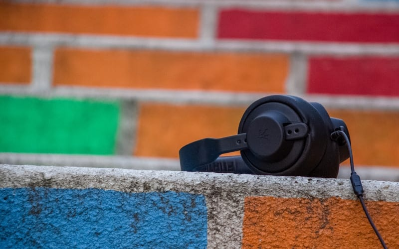 Headphones on a wall Music Gateway