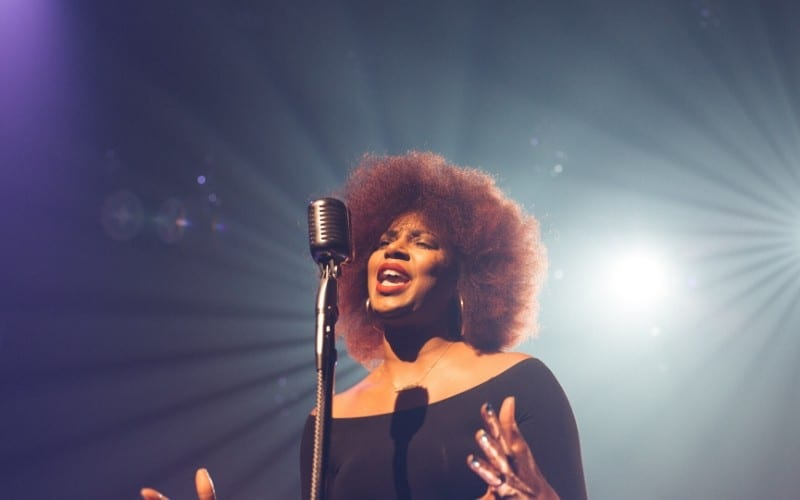 woman singing a melody
