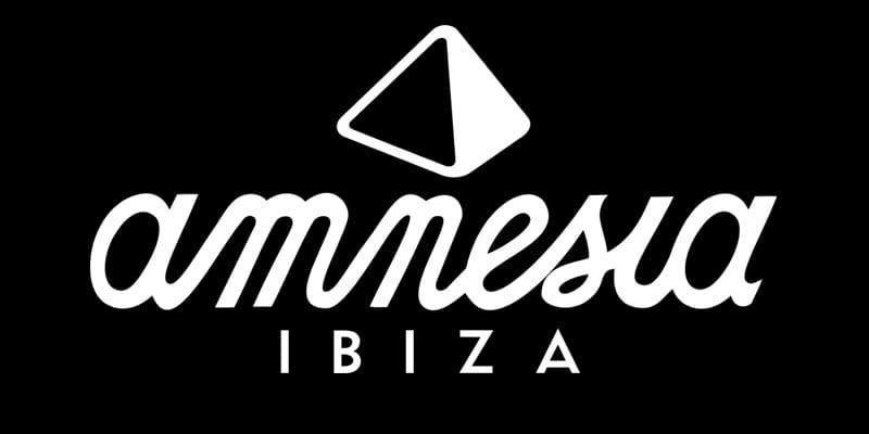 Amnesia logo black and white Ibiza