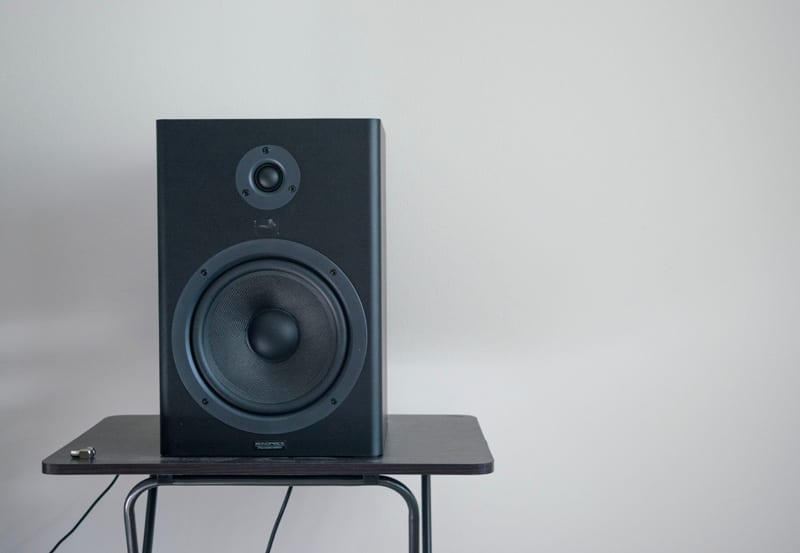 Studio Monitor on speaker stand