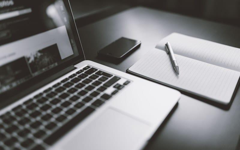 Laptop Pen & Paper