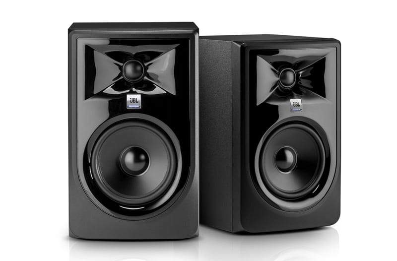"JBL 305P MKII Super White 5"" Powered Studio Monitor"