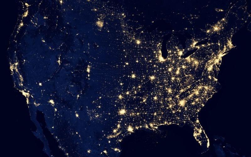 North America lights