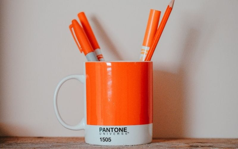 Pantone orange colour