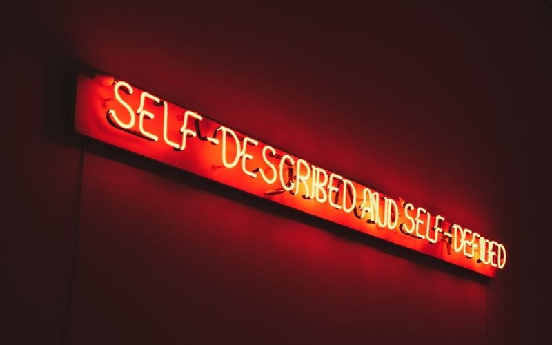 self-described neon sign for electronic press kit