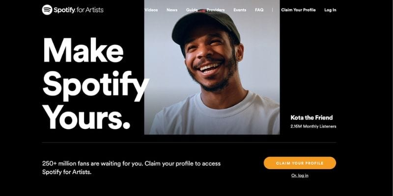 Spotify For Artists Claim your profile artist page