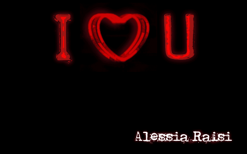 Alessia Raisi 'I Love U' Artwork