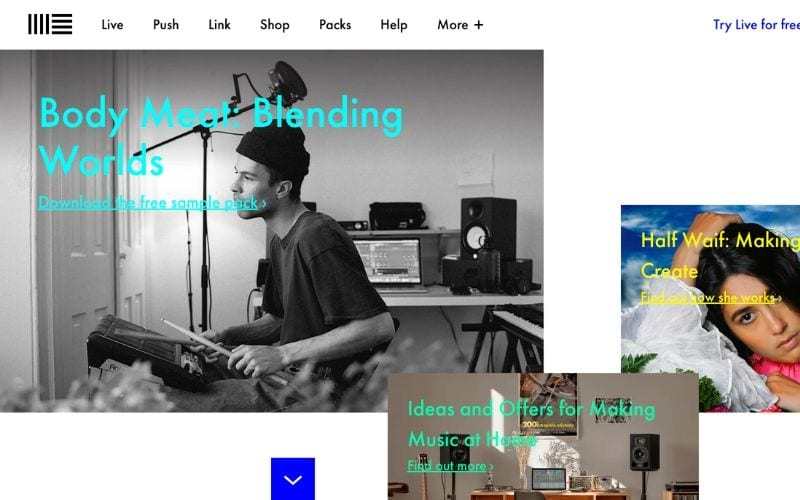 Ableton website