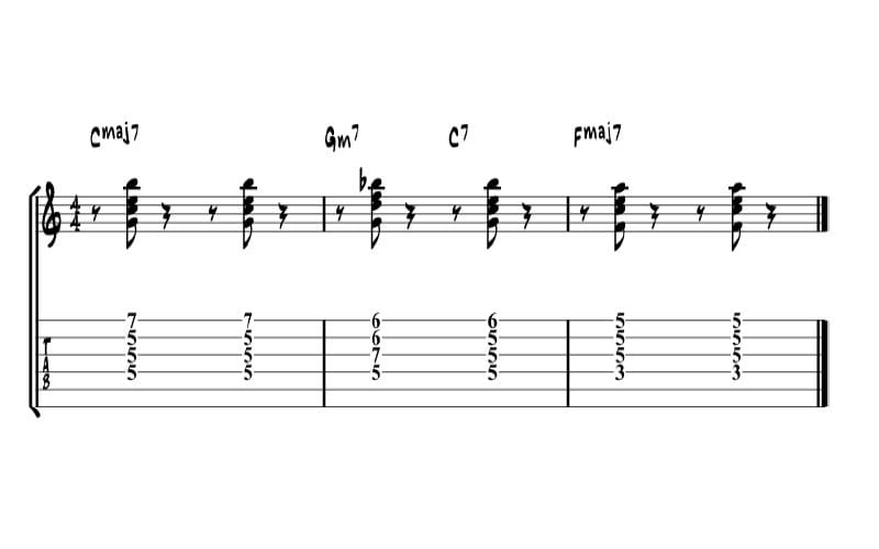 Chord I to IV example