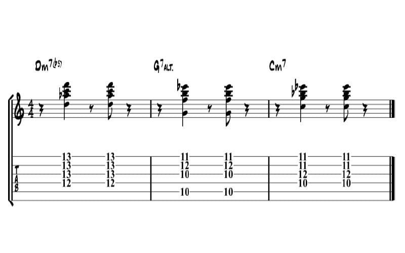 II V I minor chord progression