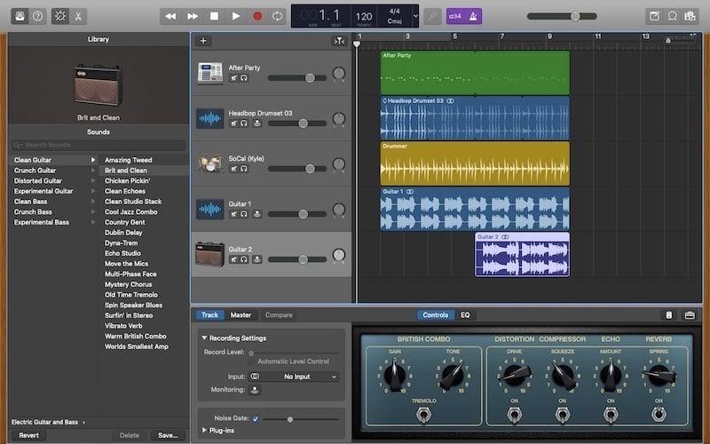 audio recording garageband