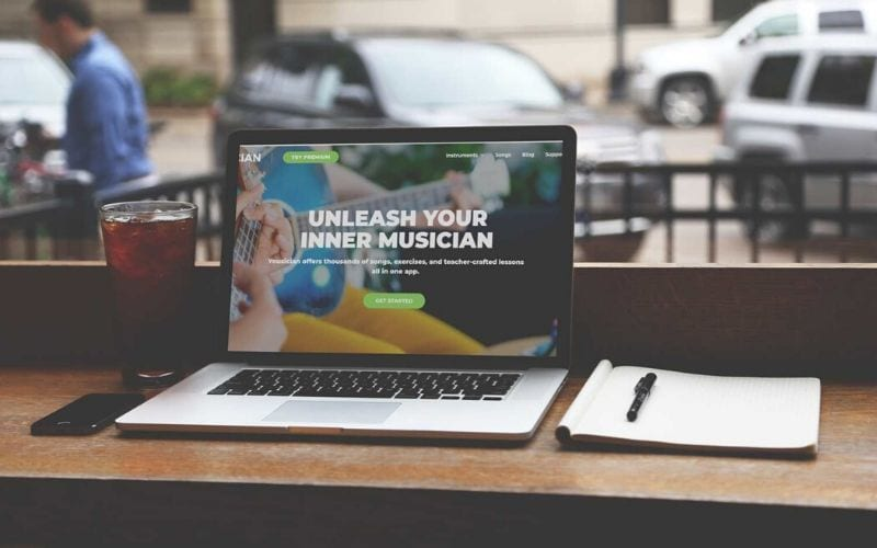 Yousician on a laptop