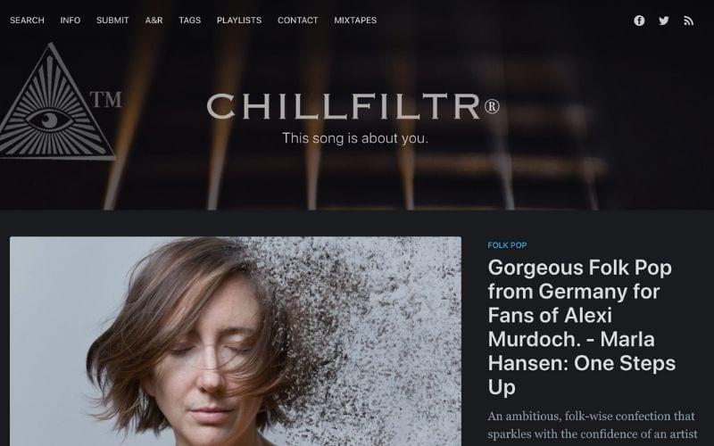 chillfiltr music blog
